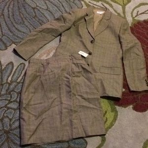 Talbots plaid two-piece skirt suit size 10